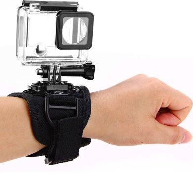 Крепление экшн камеры на запястье 360 градусов