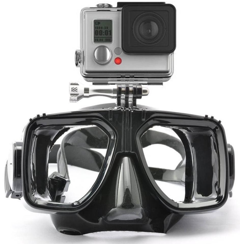 Маска для дайвинга с креплением для экшн камеры