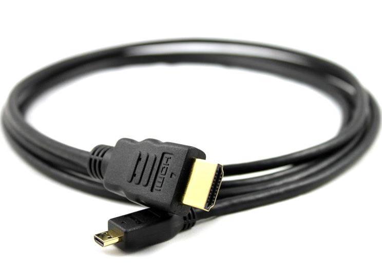 Micro HDMI кабель переходник HDMI для подключения экшн камеры к ТВ и ПК